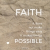 Productafbeelding Wenskaart Faith makes things possible