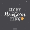 Productafbeelding Kerstkaart Glory to the newborn King