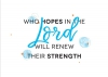 Productafbeelding Enkele kaart Who hopes in the Lord will renew their strength