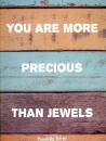 Productafbeelding Kaart you are more precious than jewels
