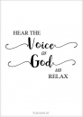 Productafbeelding Kaart voice of God