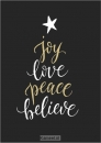 Productafbeelding Kaart kerst Joy love peace believe