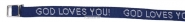 Productafbeelding Armbandje God loves you blauw