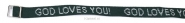Productafbeelding Armbandje God loves you groen