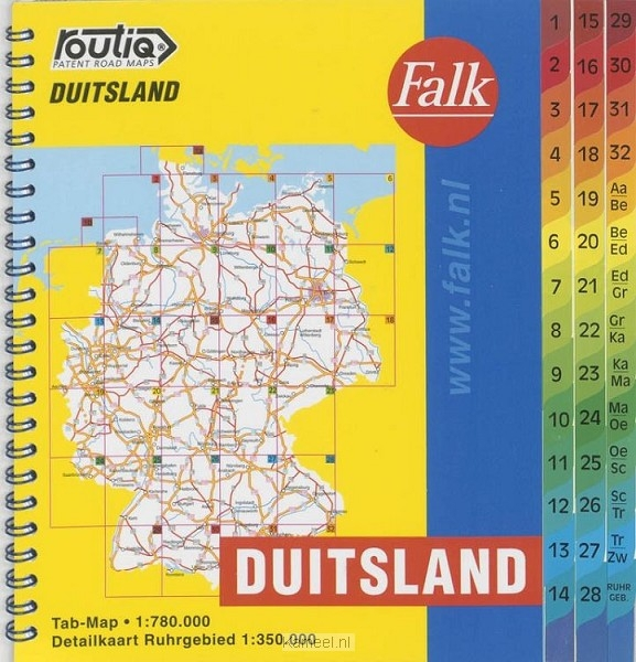 Grote afbeelding Falk autokaart Routiq Duitsland tab map