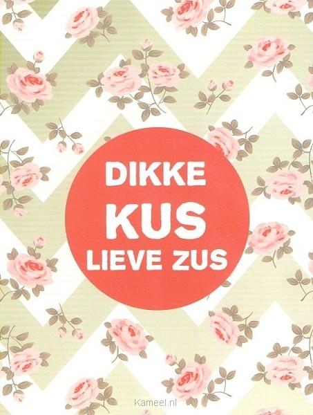 Vaak Kaart dikke kus lieve zus | Leef! | Kaarten | Kameel.nl WH17
