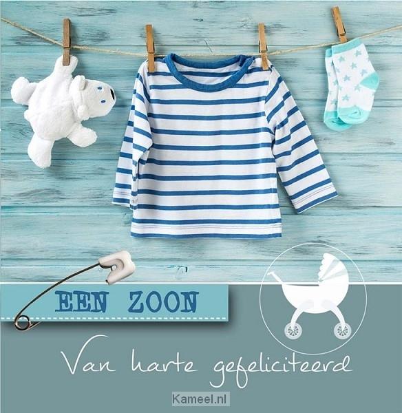 Bedwelming Wenskaart geboorte zoon   Kaarten   Kameel.nl @SW02
