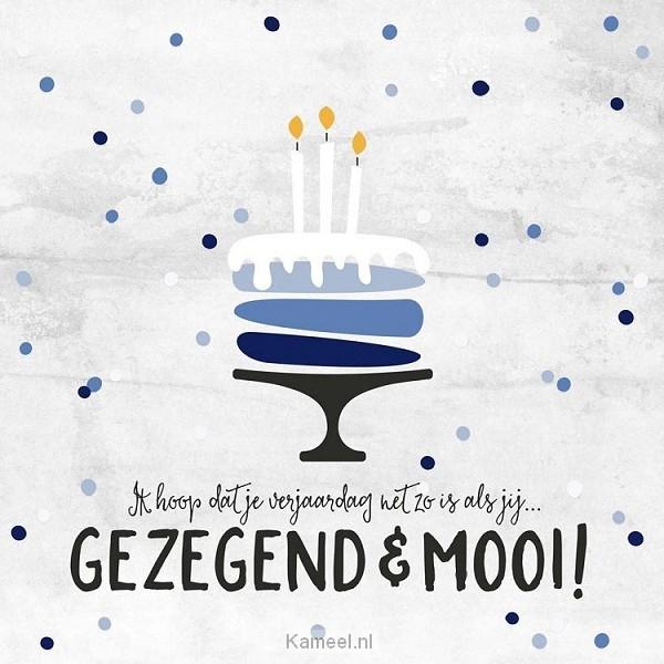 Verjaardagskaart Man Gezegend En Mooi Kaarten Kameel Nl