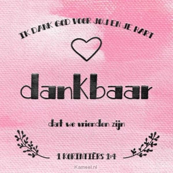 Uitzonderlijk Kaart Bedankt 1 Korintiers 1:4 | Kaarten | Kameel.nl OD41