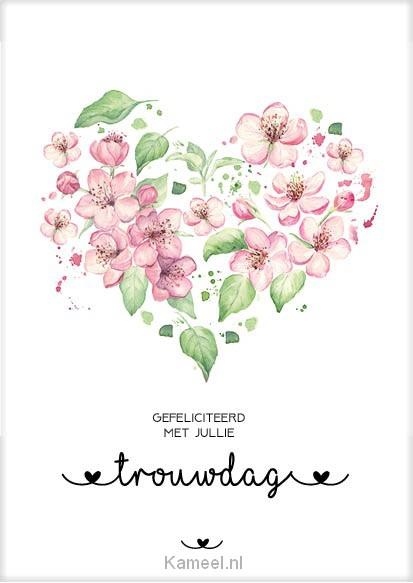 kaart gefeliciteerd trouwdag | bloom | kaarten | kameel.nl