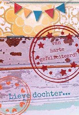 gefeliciteerd lieve dochter Wenskaart gefeliciteerd lieve dochter | F&F | Kaarten | Kameel.nl gefeliciteerd lieve dochter