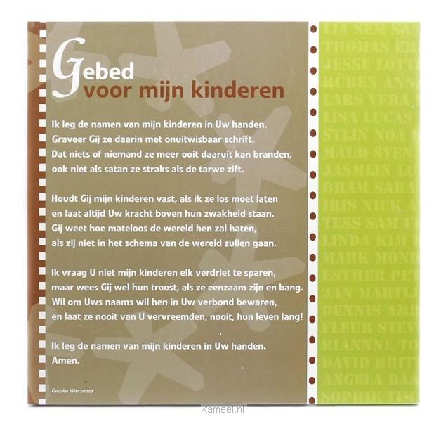 Wonderbaar Wandbord Gebed voor mijn kinderen 22x22c | Cadeaus | Kameel.nl XJ-76